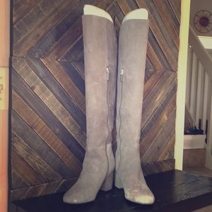 Over The Knee Suede Boots!